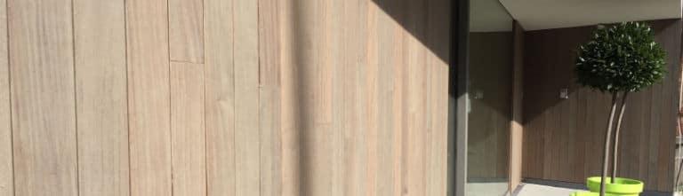 buitenmuur bekleden met hout